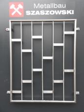Fenstergitter Edelstahl - Modell Platten